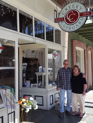 Jim and Becky Olvera - new owners of Creeky Cupboard